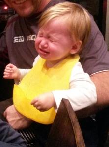 Baby Girl enjoys her teppanyaki experience.