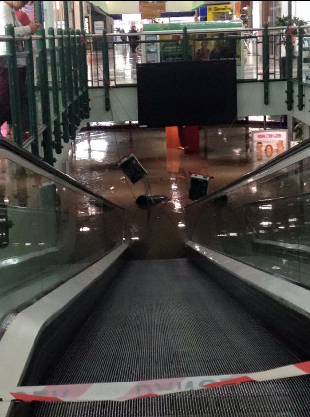 That's my local shopping centre. The escalator leads down to the carpark.